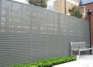 pictures of chain link fence with privacy slats
