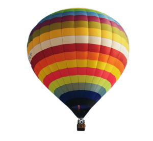 hot air balloon with transparent background