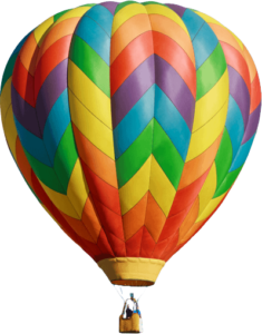 hot air balloon png transparent background
