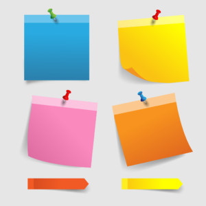 Post it note vector images