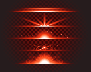 red lense flare vectro eps download