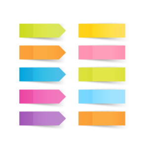 Sticky note template vector